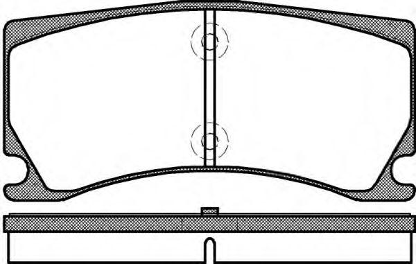 Колодки тормозные дисковые, к-кт.  арт. 2137800