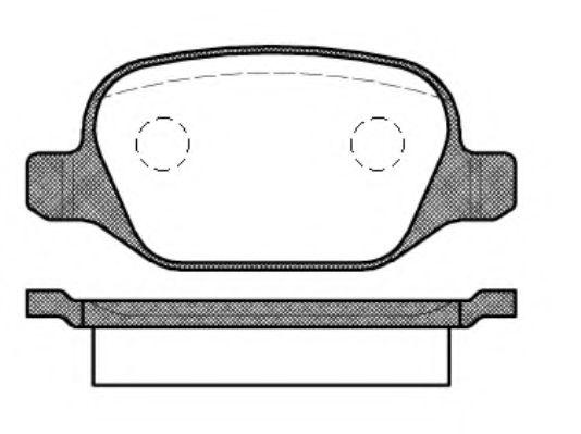 Комплект тормозных колодок, дисковый тормоз  арт. 272710