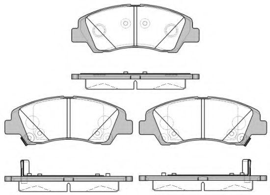 Колодки тормозные дисковые, к-кт.  арт. 2158302