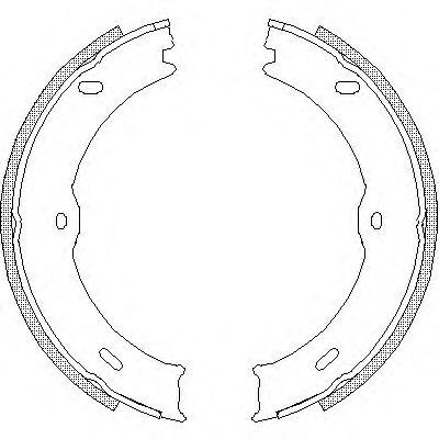 Тормозные колодки ручника MB Sprinter(W906) 06-, VW Crafter ROADHOUSE 474600