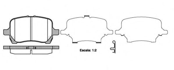 Колодки тормозные дисковые, к-кт.  арт. 2108912