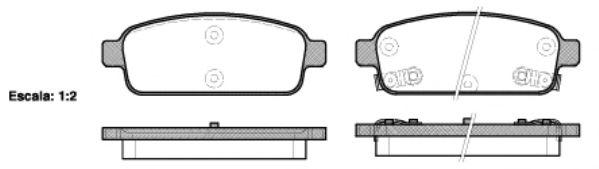 Колодки тормозные дисковые, к-кт.  арт. 2143202