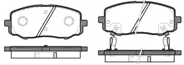 Колодки тормозные дисковые, к-кт.  арт. 2113312