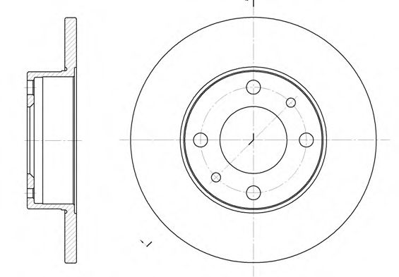 Тормозной диск  арт. 603000
