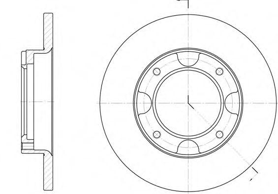 Тормозной диск  арт. 603900