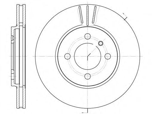 Тормозной диск TEXTAR арт. 606210
