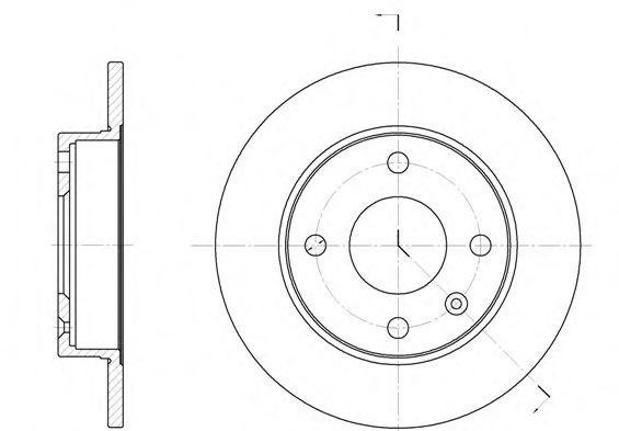 Тормозной диск  арт. 609400