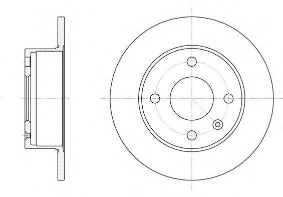 Тормозной диск  арт. 609500