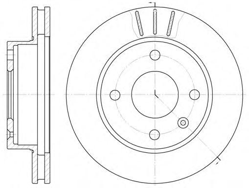 Тормозной диск  арт. 609710