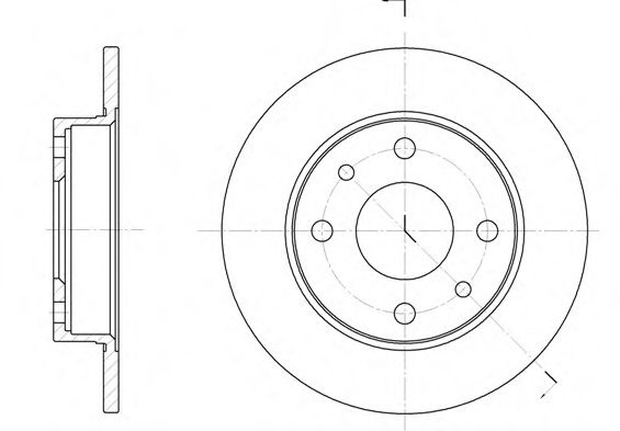 Тормозной диск  арт. 611000
