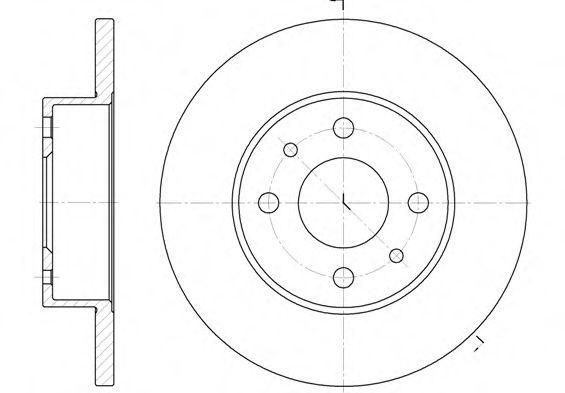 Тормозной диск  арт. 611100