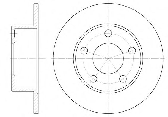 Тормозной диск ROADHOUSE 612100