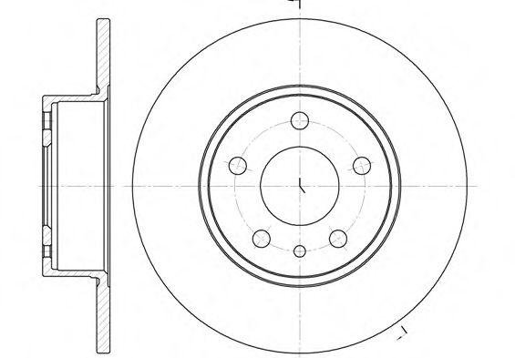 Тормозной диск  арт. 614900