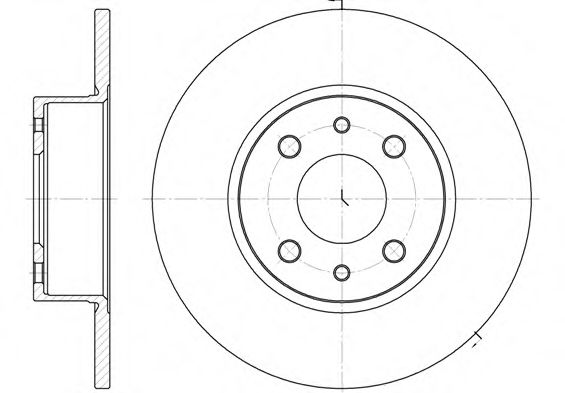 Тормозной диск  арт. 615000