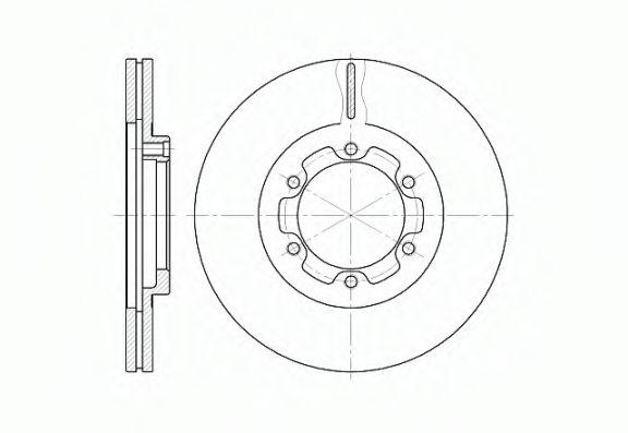 Тормозной диск  арт. 618810