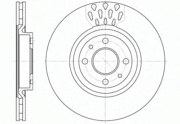 Тормозной диск  арт. 631510