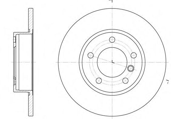 Тормозной диск  арт. 632300