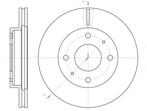 Тормозной диск  арт. 637610