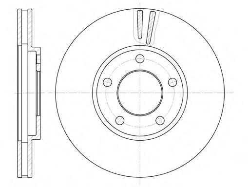 Тормозной диск  арт. 641910