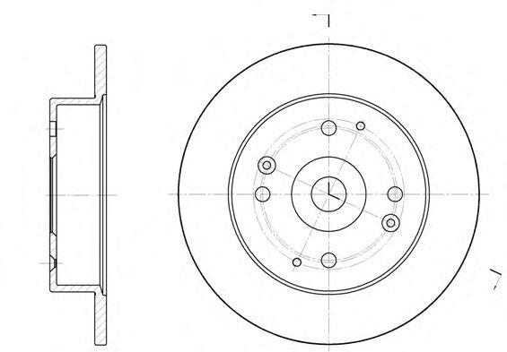 Тормозной диск  арт. 644800