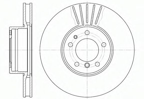 Тормозной диск  арт. 651110