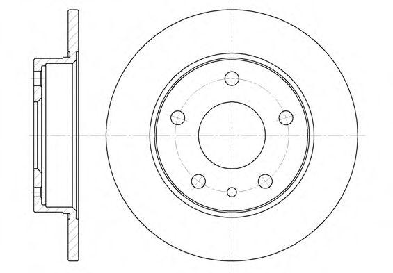 Тормозной диск  арт. 651600