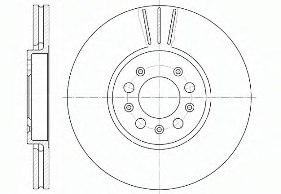 Диск тормозн. передн. VAG D288/H=34,2mm ROADHOUSE 654410