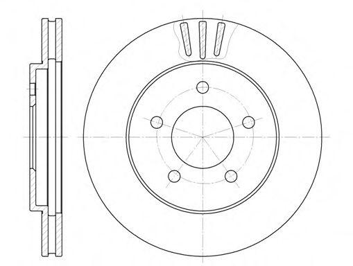 Тормозной диск  арт. 656410