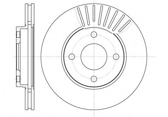 Тормозной диск ROADHOUSE 657510