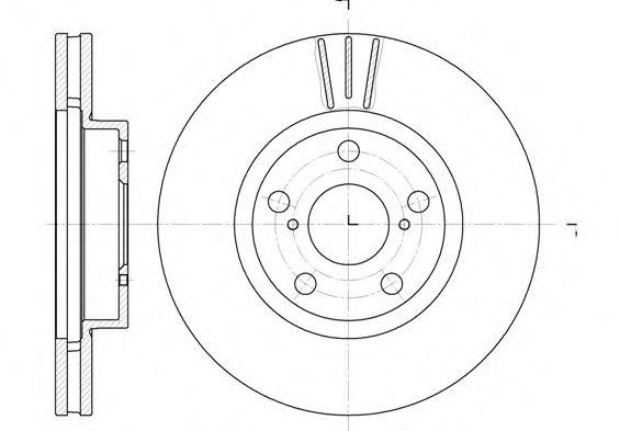 Диск гальмівний передній вентильований ROADHOUSE 657710