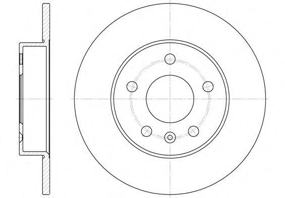 Тормозной диск ROADHOUSE 657800