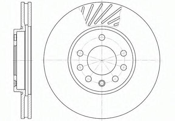 Тормозной диск ROADHOUSE 658410