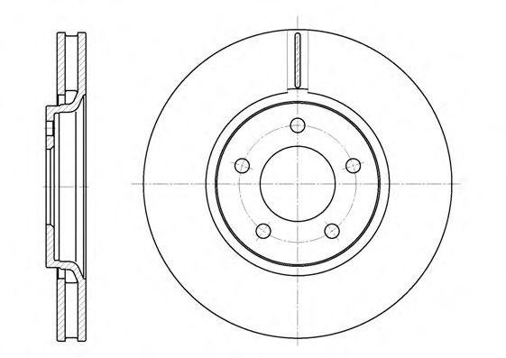 Тормозной диск  арт. 660210