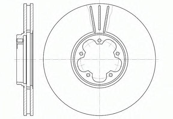 Тормозной диск ROADHOUSE 660810
