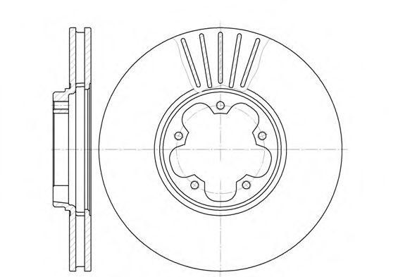 Тормозной диск ROADHOUSE 660910