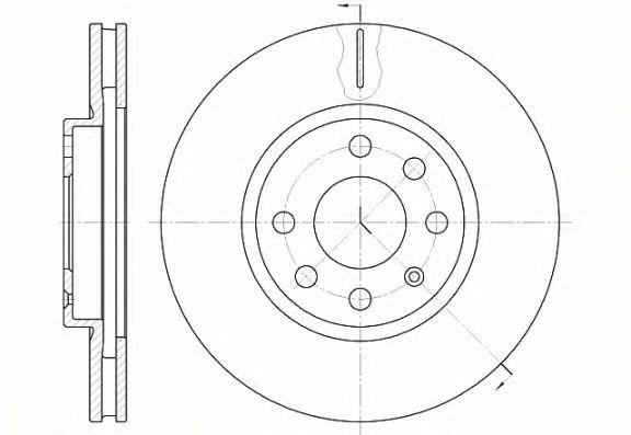 Тормозной диск ROADHOUSE 661110