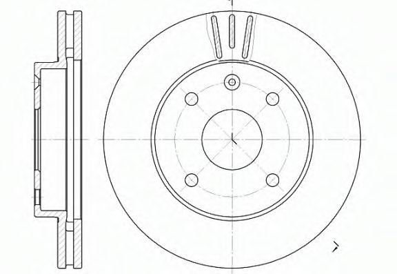 Тормозной диск  арт. 665610