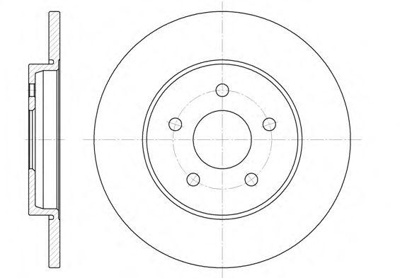 Тормозной диск  арт. 666100