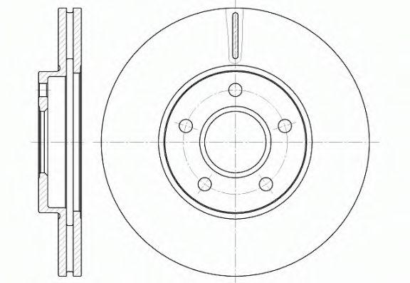 Тормозной диск ROADHOUSE 666210