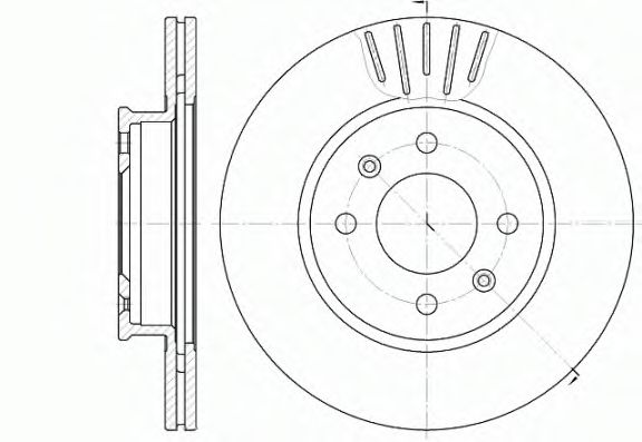 Тормозной диск  арт. 666610