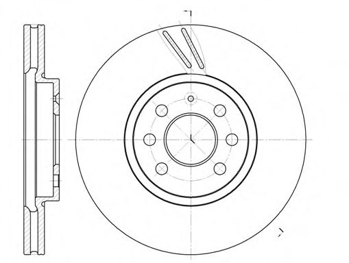Тормозной диск ROADHOUSE 668410