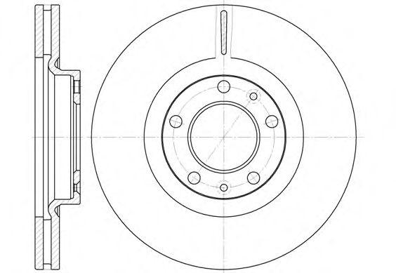 Тормозной диск ROADHOUSE 669310