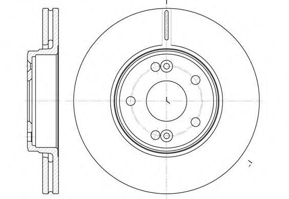 Тормозной диск ROADHOUSE 669710