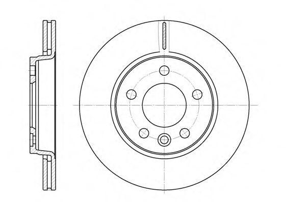 Тормозной диск ROADHOUSE 670710