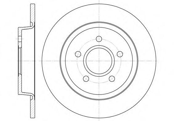 Тормозной диск  арт. 671200