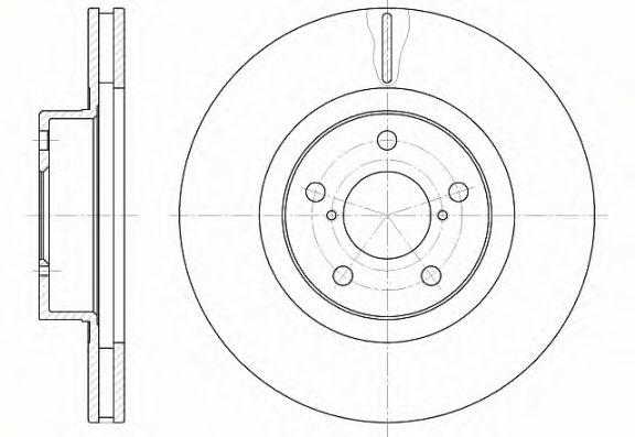 Тормозной диск ROADHOUSE 671510