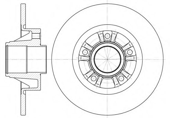 Тормозной диск ROADHOUSE 673300