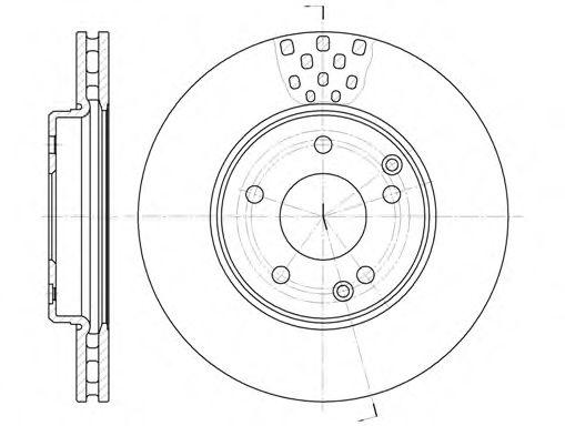 Тормозной диск ROADHOUSE 675110