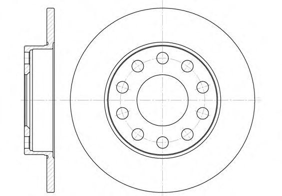 Гальмiвний диск MINTEX арт. 675300
