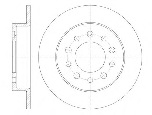Тормозной диск  арт. 676200
